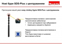 Буры Makita SDS-Plus с центровкой New 2017-2018