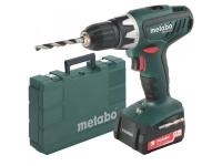 Аккумуляторный шуруповерт Metabo BS 14.4 Li 14.4В, 2xLi-PowerCompact 2.0Ач, LED, SC60, 1.35кг, кофр 602105570